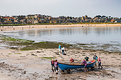 View of  North Berwick on Forth estuary in East Lothian, Scotland, United Kingdom.