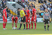 York City midfielder Josh Carson gets ready to take a free kick  during the Sky Bet League 2 match between Notts County and York City at Meadow Lane, Nottingham, England on 26 September 2015. Photo by Simon Davies.