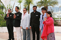 Lalit Behl, Ranvir Shorey, Dibakar Banerjee, Kanu Behl, Amit Sial and Guneet Monga at the photo call for the film Titli at the 67th Cannes Film Festival, Monday 19th May 2014, Cannes, France.