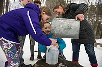 Maple Sugaring at Gilford Elementary School.     ©2019 Karen Bobotas Photographer
