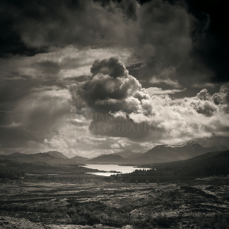Loch Laidon and Black mount from Corrour