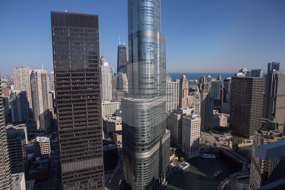 Trump International Hotel and Tower and 330 N. Walbash building in Chicago, IL.