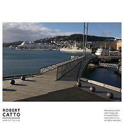 A view of Lambton Harbour, Wellington, New Zealand