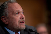 """Former U.S. Secretary of Labor ROBERT REICH testifies before a Senate Health, Education, Labor and Pensions Committee hearing on """"The Endangered Middle Class: Is the American Dream Slipping Out of Reach for American Families?"""" REICH is a professor of public policy in the University of California Berkeley's Goldman School of Public Policy."""