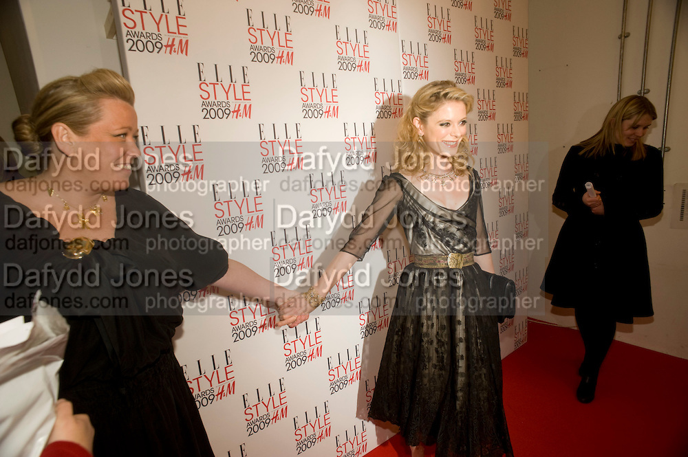 KATE HALFPENNY; AMELIA FOX. The Elle Style Awards 2009, The Big Sky Studios, Caledonian Road. London. February 9 2009.