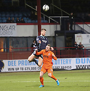 Dundee's Iain Davidson towers above Kilmarnock's Chris Chantler to get a header on goal -  Dundee v Kilmarnock, SPFL Premiership at Dens Park <br /> <br /> <br />  - &copy; David Young - www.davidyoungphoto.co.uk - email: davidyoungphoto@gmail.com
