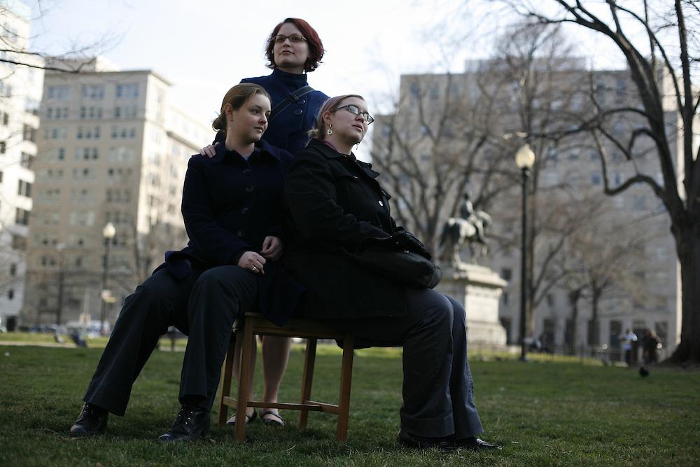 Washington, Feb. 25, 2008 - Kelly Behre, Amanda Looer, Julia Strange, American Bar Association