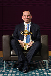 Thomas Bjorn, European Ryder Cup Captain for The 2018 Ryder Cup, during the press conference at the Hilton Heathrow, London.