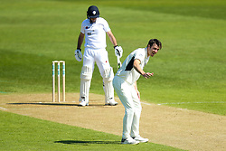 Toby Roland-Jones of Middlesex appeals for an LBW - Mandatory by-line: Robbie Stephenson/JMP - 20/04/2018 - CRICKET - The 3aaa County Ground  - Derby, England - Derbyshire CCC v Middlesex CCC - Specsavers County Championship Division Two