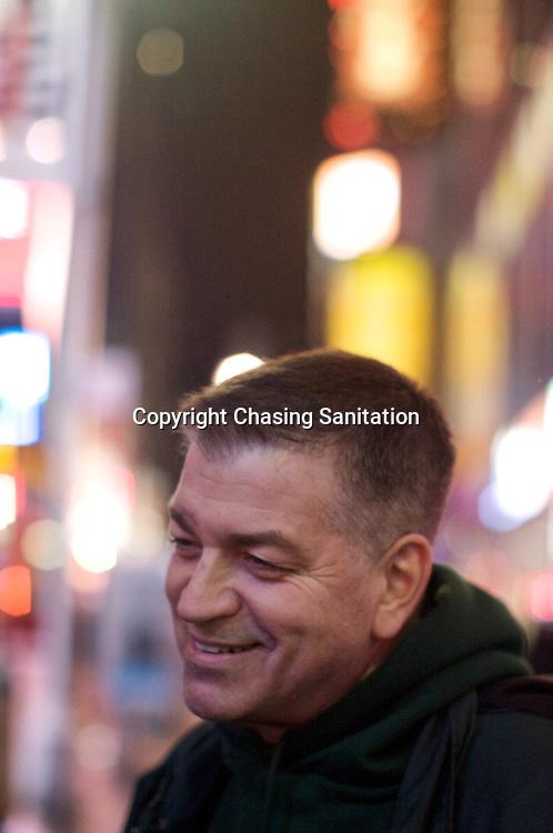 Paul Brno in Times Square, Manhattan. February 2009.