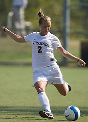 Virginia Cavaliers D Sarah Senty (2)..The Virginia Cavaliers women's soccer team defeated the William and Mary Tribe 1-0 in double overtime at Klockner Stadium in Charlottesville, VA on September 23, 2007.
