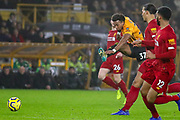 Wolverhampton Wanderers forward Adama Traoré (37) shoots towards the goal during the Premier League match between Wolverhampton Wanderers and Liverpool at Molineux, Wolverhampton, England on 23 January 2020.