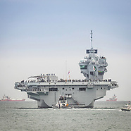 HMS Queen Elizabeth leaves Portsmouth 180818