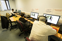 Computer room at Kingswood Centre, a secure centre for people with mental health issues for assessment and/or treatment who may have come into contact with the Criminal Justice System,  London Borough of Enfield, Barnet, Enfield & Haringey Mental Health Trust, London UK