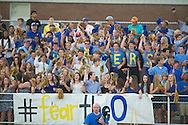 Oxford High students cheer vs. Lafayette High in the annual Crosstown Classic football game, at William L. Buford Stadium at LHS, in Oxford, Miss. on Friday, September 13, 2013. Oxford High won 30-0.