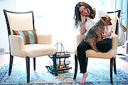 Aaron Leigh Johnson-Horton, founder of The Mesh Warrior, poses for a portrait at her home in Dallas, Texas on July 8, 2014. (Cooper Neill for The Texas Tribune)