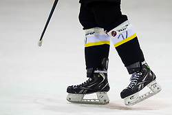 Ice skates during Inter National League ice hockey match between HK Playboy Slavija and HK ECE Celje, on September 30, 2015, in Ledena Dvorana Zalog, Ljubljana, Slovenia. Photo by Urban Urbanc / Sportida