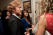 LUKE BLACKALL; MARTHA FREUD, Freud Museum dinner, Maresfield Gardens. 16 June 2011. <br /> <br />  , -DO NOT ARCHIVE-© Copyright Photograph by Dafydd Jones. 248 Clapham Rd. London SW9 0PZ. Tel 0207 820 0771. www.dafjones.com.