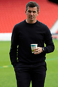 Fleetwood Town Manager Joey Barton on the pitch prior to the EFL Sky Bet League 1 match between Doncaster Rovers and Fleetwood Town at the Keepmoat Stadium, Doncaster, England on 6 October 2018.
