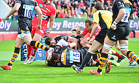 Essai Mathieu BASTAREAUD - 05.04.2015 - Toulon / Londres Wasps - 1/4Finale European Champions Cup<br />