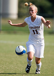 Virginia Cavaliers D/M Becky Sauerbrunn (11)..The Virginia Cavaliers women's soccer team defeated the William and Mary Tribe 1-0 in double overtime at Klockner Stadium in Charlottesville, VA on September 23, 2007.