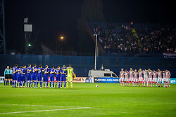Players during the football match between National teams of Croatia and Greece in First leg of Playoff Round of European Qualifiers for the FIFA World Cup Russia 2018, on November 9, 2017 in Stadion Maksimir, Zagreb, Croatia. Photo by Ziga Zupan / Sportida