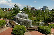 A fountain at Finley Park, in downtown Columbia SC