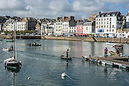 A view of the harbor on Monday, July 25, 2016 in Douarnenez, France.