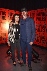 """Eric Cantona and Rachida Brakni at """"Hoping For Palestine"""" Benefit Concert For Palestinian Refugee Children held at The Roundhouse, Chalk Farm Road, England. 04 June 2018. <br /> Photo by Dominic O'Neill/SilverHub 0203 174 1069/ 07711972644 - Editors@silverhubmedia.com"""