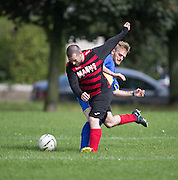 RNL Dundee (blue) met Clarks Cowboys (red and black) in the Dundee Saturday Morning Football League Adamson Cup at Fairmuir <br /> <br /> <br />  - © David Young - www.davidyoungphoto.co.uk - email: davidyoungphoto@gmail.com