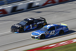 October 14, 2018 - Talladega, Alabama, United States of America - Jamie McMurray (1) battles for position during the 1000Bulbs.com 500 at Talladega Superspeedway in Talladega, Alabama. (Credit Image: © Justin R. Noe Asp Inc/ASP via ZUMA Wire)