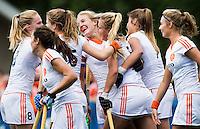 BREDA - Vreugde bij Oranje met in het midden Lauren Stam tijdens de finale van het Volvo Invitatie Toernooi U21 tussen de vrouwen van Nederland en China (5-1) . COPYRIGHT KOEN SUYK