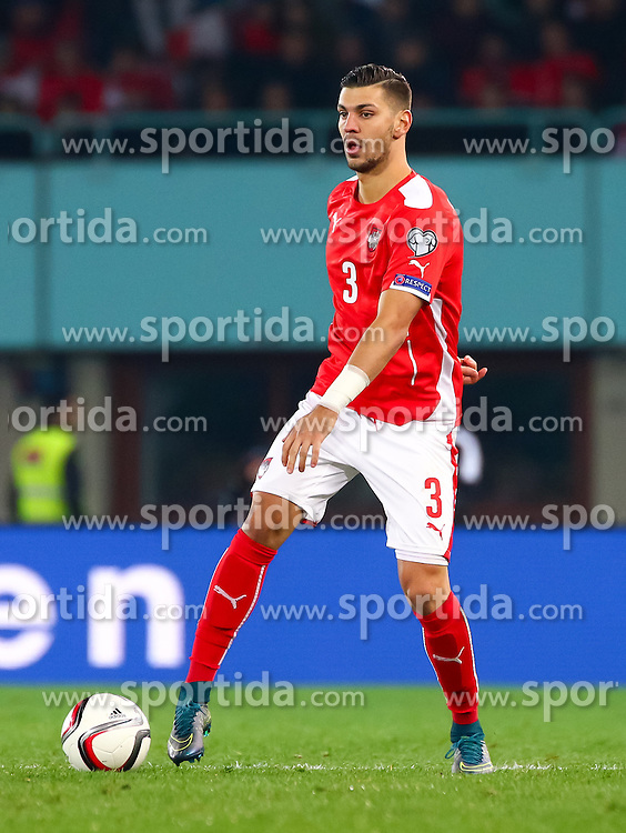 12.10.2015, Ernst Happel Stadion, Wien, AUT, UEFA Euro 2016 Qualifikation, Österreich vs Liechtenstein, Gruppe G, im Bild Aleksandar Dragovic (AUT) // the UEFA EURO 2016 qualifier group G match between Austria and Liechtenstein at the Ernst Happel Stadion, Vienna, Austria on 2015/10/12. EXPA Pictures © 2015 PhotoCredit: EXPA/ Sebastian Pucher