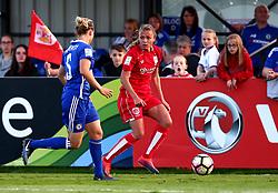 Claire Emslie of Bristol City Women takes on Gilly Flaherty of Chelsea Ladies - Mandatory by-line: Robbie Stephenson/JMP - 31/05/2017 - FOOTBALL - Stoke Gifford Stadium - Bristol, England - Bristol City Women v Chelsea Ladies - FA Women's Super League Spring Series