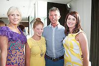 07/07/2014 repro free 1st use . Carmel Dooley, prworks, Amber and Ger O Connor Kinvara and Cora Cassidy, Anthony Ryans at the launch of the Galway Races 7 day racing Summer Festival at the Radisson blu Hotel Galway. Photo:Andrew Downes