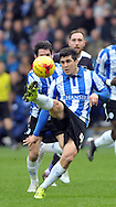 Fernando Forestieri of Sheffield Wednesday in action against Derby County during the Sky Bet Championship match at Hillsborough, Sheffield<br /> Picture by Graham Crowther/Focus Images Ltd +44 7763 140036<br /> 06/12/2015