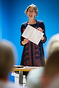 Laura Davison, Labour Parliamentary Candidate for Folkestone and Hythe hosts a 'Save Our Schools' Education rally at Pent Valley Leisure Centre. Folkestone, Kent.