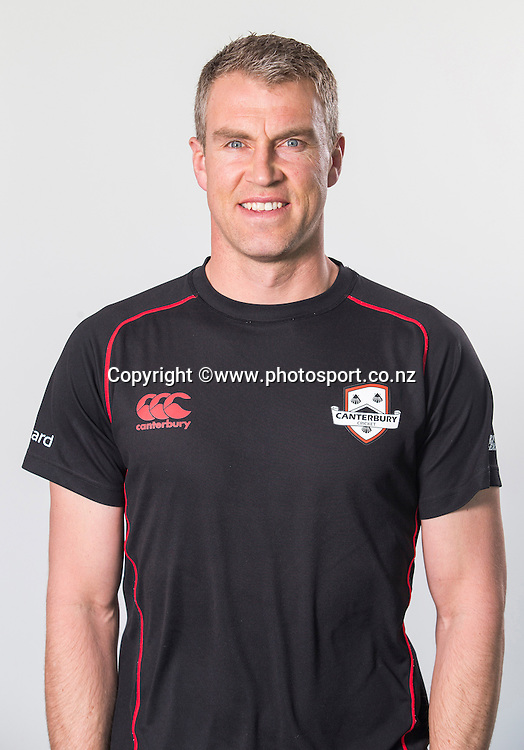 Brendon Donkers, assistant coach Canterbury Kings. Georgie Pie Super Smash domestic 2015/16 cricket headshots, Hagley Oval, Christchurch. 2 October 2015 Photo: Joseph Johnson/www.photosport.co.nz