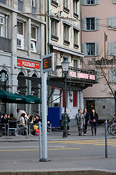 SWITZERLAND ZURICH 3MAR12 - Zurich central tram and bus station in Zurich city centre, Switzerland. ....jre/Photo by Jiri Rezac....© Jiri Rezac 2012