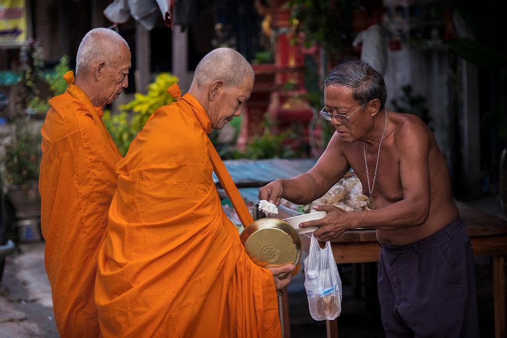 Morning Alms, Nakhon Nayok, Thailand