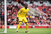 RB Leipzig goalkeeper Yvon Mvogo (28) during the Emirates Cup 2017 match between Leipzig and Benfica at the Emirates Stadium, London, England on 30 July 2017. Photo by Sebastian Frej.