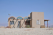 Israel, Aravah, The ecological village of Tzukim. All construction material are environmental friendly such as wood and mud. waste water and garbage are reused for irrigation and compost