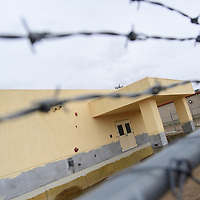 The old sheriff's office sits fenced off with unused office units on on Aztec Avenue Wednesday