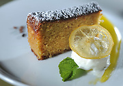 Cambridge, MA 040913 A Limoncello- Almond cake also known as an Olive Oil cake gluten free from Rialto in Cambridge photographed on April 9, 2013. (Essdras M Suarez/ Globe Staff)/ G