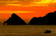 cabo san lucas sun set with the arch