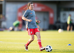 NEWPORT, WALES - Thursday, August 30, 2018: Wales' Helen Ward warms up ahead of the FIFA Women's World Cup 2019 Qualifying Round Group 1 match between Wales and England at Rodney Parade. (Pic by Laura Malkin/Propaganda)
