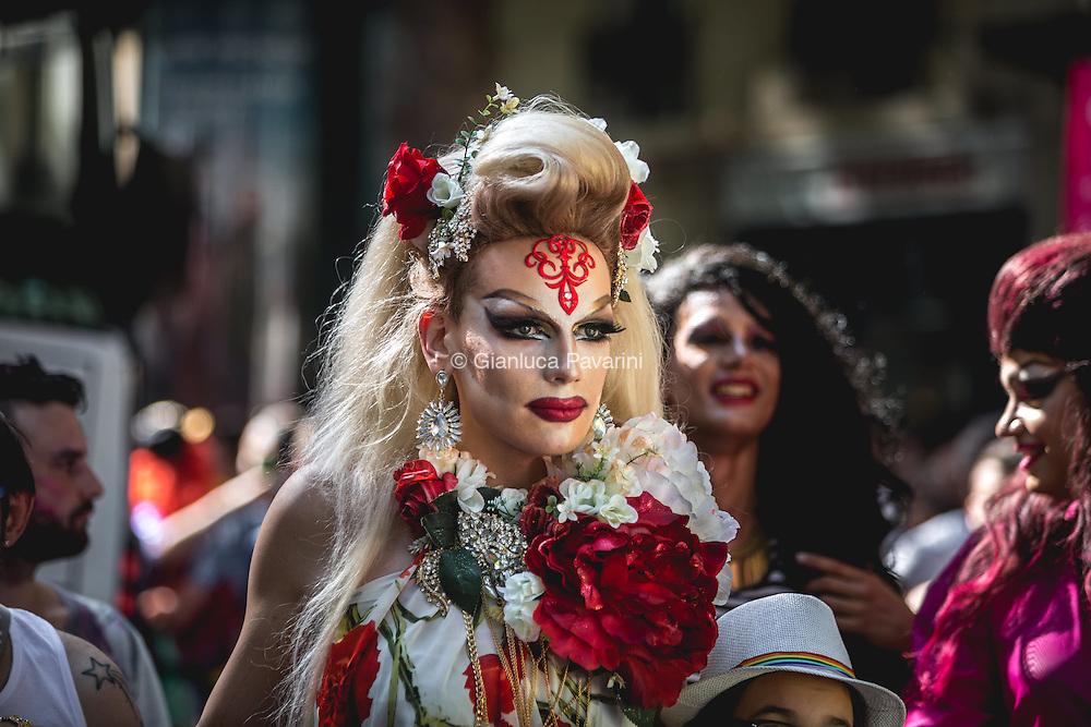 Gay Pride of Paris (marche de la fierté) 2015. From jardin du Luxemburg to Place de la Bastille. 27.06.2015