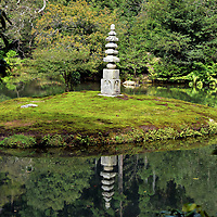 White Snake Pagoda at Kinkaku-ji in Kyoto, Japan<br />