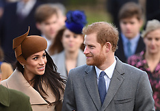 Royals attends Christmas Day Church service - 25 Dec 2017
