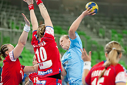Barbara Lazovic of Slovenia during handball match between Women National Teams of Slovenia and Czech Republic of 4th Round of EURO 2012 Qualifications, on March 25, 2012, in Arena Stozice, Ljubljana, Slovenia. (Photo by Urban Urbanc / Sportida.com)